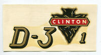 Clinton Engine Chainsaw D-3-1 Decal