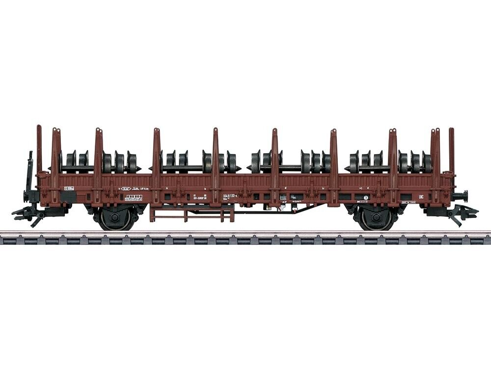 Märklin 46938 FREIGHT WAGON Rungenwagen KBS 442 with Axles DB H0