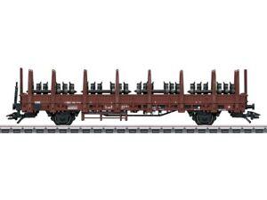 Maerklin-46938-Gueterwagen-Rungenwagen-Kbs-442-mit-Radsaetzen-DB-H0