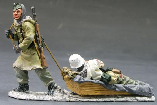 KING & COUNTRY WW2 GERMAN ARMY WS084 WINTER SLEDGE MIB