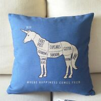 Unicorn Cushion / Pillow Cover Case Sham, Ships Super Fast From Usa, Not China