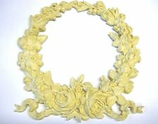 ARCHITECTURAL CARVED LARGE WREATH ROSES FURNITURE APPLIQUES-WOOD &RESIN-FLEXIBLE