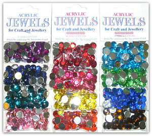 Acrylic faceted 10mm jewels flat back for craft for Plastic gems for crafts