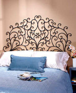 Image Is Loading Metal Wall Mount Scrolled Medallion Headboard Art