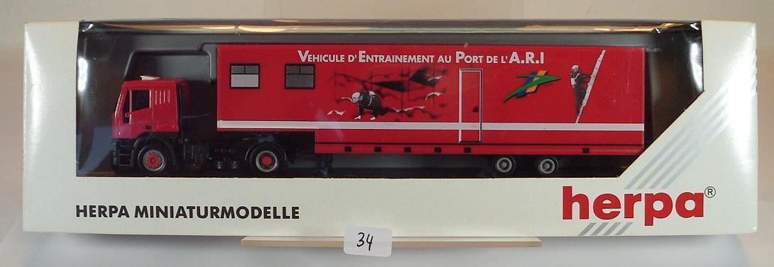 HERPA 1 87 IVECO EUrougeECH semi-remorque pompiers port port port de l'A.R.I. Frankr. emballage d'origine  034 4d6335