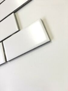 Details About 2x4 White Matte Subway Ceramic Tile Kitchen Backsplash Bathroom Sample