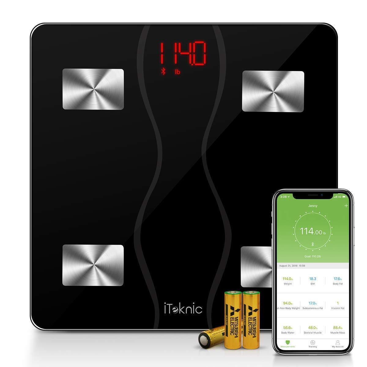 Body Fat Scale, 11 Health Measurements Digital Blautooth Bathroom Weight Monitor