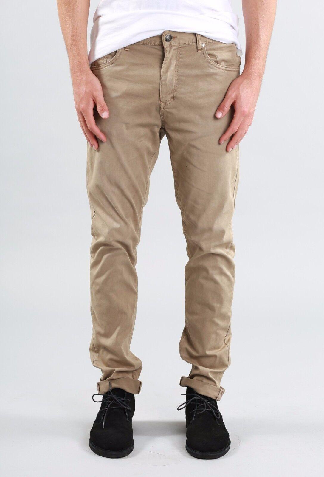 Rusty Indi Slims Men Slouch Rise Narrow leg Illusion Pants Fennel Khaki Size W30