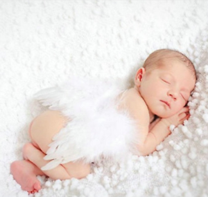 born Baby Girls Boys Angel Wings Leaf Photo Photography Props Decor WhiteN8Z