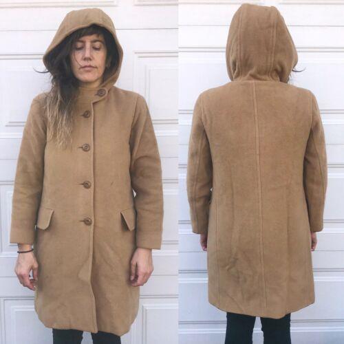 Harvé Bernard Camel Coat 4 P Petite Vtg Wool Jacke