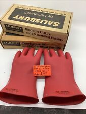 Salisbury Size 12 Lineman Red Gloves 4 Pair One Lot 2080 Upo