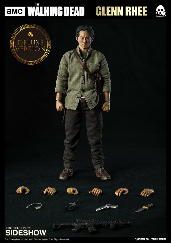 The promänading Dead Glenn Rhee Deluxe Version Threezero sideshow Figur 1  6