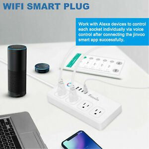 WiFi Smart Power Strip 4 USB /& 4 AC Outlets Works With Alexa Google Home