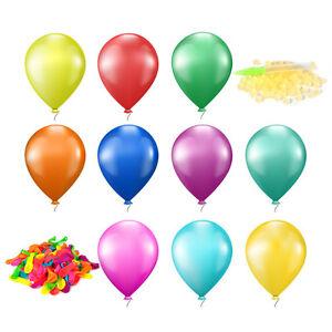 111x-Wasser-Ballons-Wasserbomben-Wasser-Luftballon-Bunt-Luftballon-Fuellhilfe