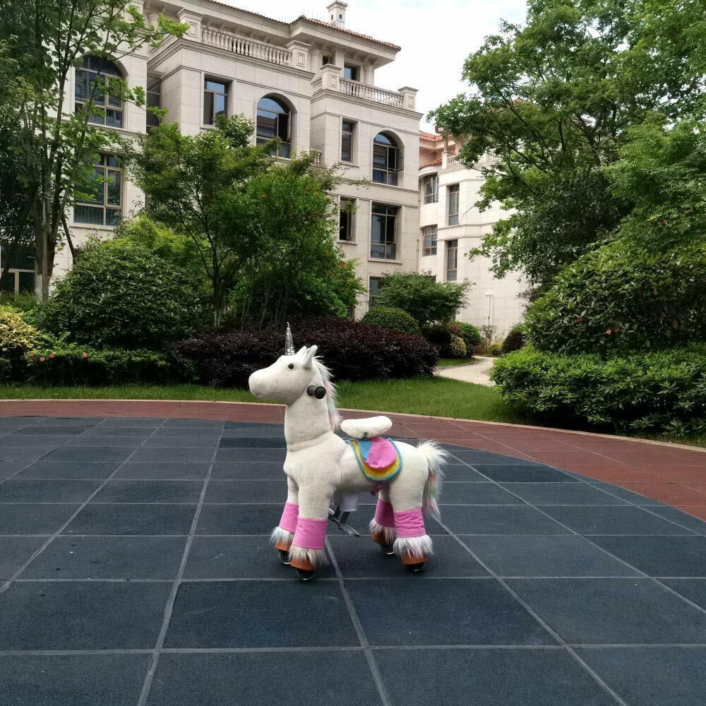 MEDALLION Medium Golden Unicorn Rock Really Walk Ride On Toy Horse Kid Ages 5-12