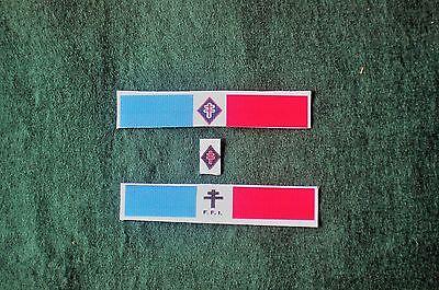 1/6 Ww2 Freee French Armbands X 2 And Breast Patch Lot QualitäT Und QuantitäT Gesichert