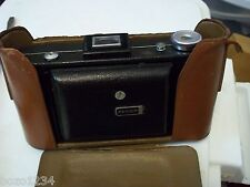 VINTAGE ANTIQUE KODAK VIGILANT SIX-20 620 FOLDING CAMERA w/ PARTIAL FIELD CASE