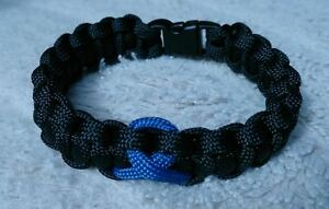 The Thin Blue Line Police Roll of Honour Trust Inspired Paracord 550 Bracelet