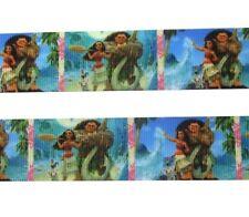 "By The Yard 1"" Disney Moana & Maui Grosgrain Ribbon Hair Bows Lanyards Lisa"