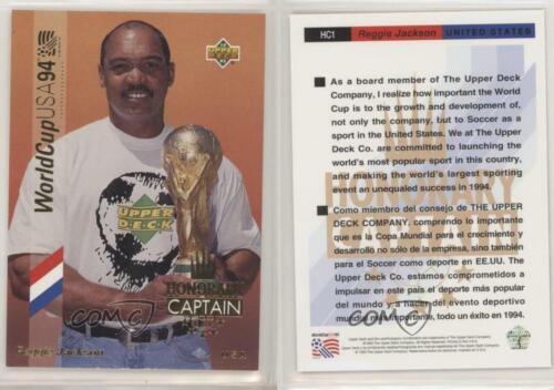 1993 UPPER DECK WORLD CUP 94 aperçu ANGLAIS//ESPAGNOL #HC1 Reggie Jackson carte