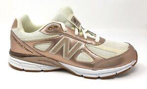designer fashion 4bcee 1d848 Details about New Balance 990v4 Girls Size 7Y Shoes Gold/Off White KJ9902KG  Rare