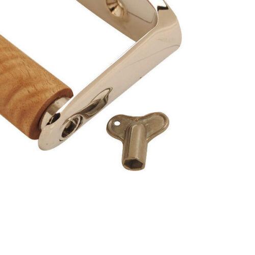 environ 13.97 cm Salle De Bain Porte-Rouleau Chrome Avec Clé Verrouillage Porte-rouleaux de papier toilette 5.5 in