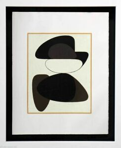 Victor-VASARELY-Original-LITHOGRAPH-Limited-Ed-w-Custom-Frame