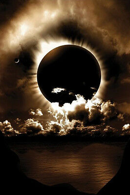 """Celestial Alignment photography poster 24x36/"""" Solar Eclipse of the Sun"""