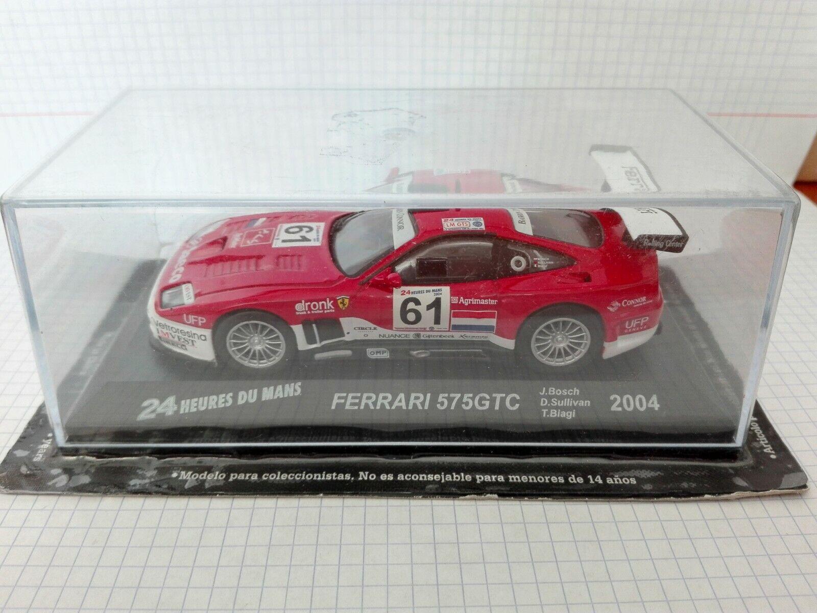 moda clasica FERRARI 575 GTC GTC GTC 2004    24 HORAS DE LE MANS  ESCALA 1 43  envío gratis