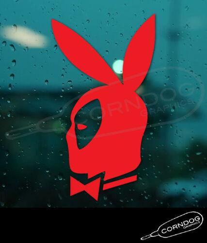 DeadPool Playboy STICKER VINYL DECAL MARVEL WADE WILSON CABLE X FORCE STAN LEE