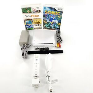 Nintendo-Wii-White-Console-Bundle-w-2-Games-Controllers-Tested-amp-Works