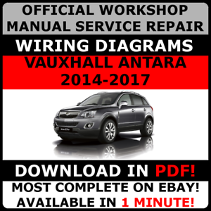 official workshop service repair manual to vauxhall antara opel rh ebay com  vauxhall antara wiring diagram