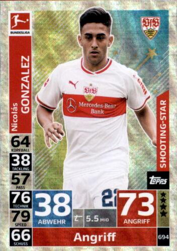 Nicolas Gonzalez Shooting-Stars Topps Match Attax Extra 18//19 694