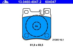 ATE 13.0460-4047.2 Bremsbelagsatz Scheibenbremse