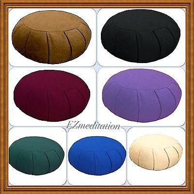 Un-Stuffed Deluxe Round Yoga Zafu meditation cushion (2 Layers/empty Shells)