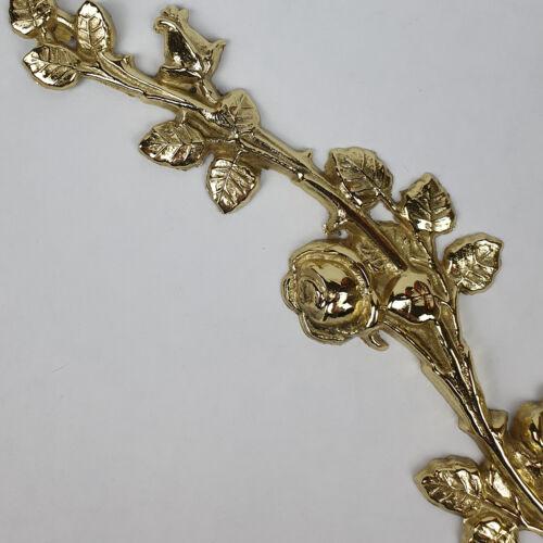 Bronze Metall Blume Rose Geschenk Goldrose Gold Rosenzweig aus Messing