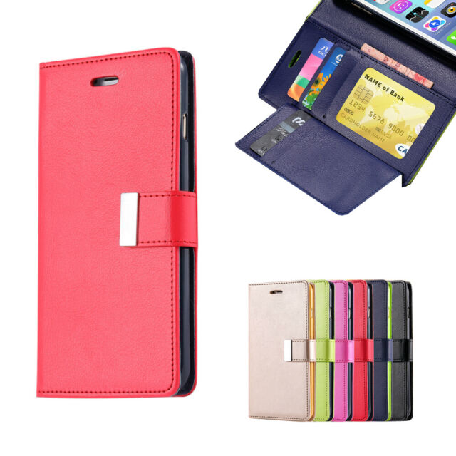 Leather Wallet Case Magnetic Flip Card Cover For iPhone 8 Plus 6 6s 7 Plus