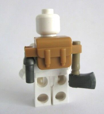 Custom BACKPACK Accessory for Minifigures -INCLUDES HATCHET & CANTEEN! New