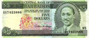 02-Barbados-P43-5-Dollars-1993