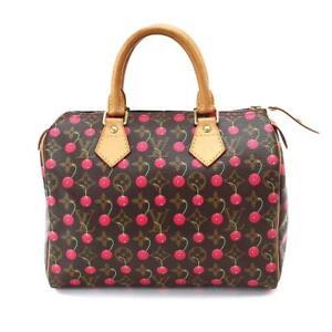 6a680e7ebe36 Auth LOUIS VUITTON Monogram Cherry Speedy 25 Hand Bag Brown M95009 ...