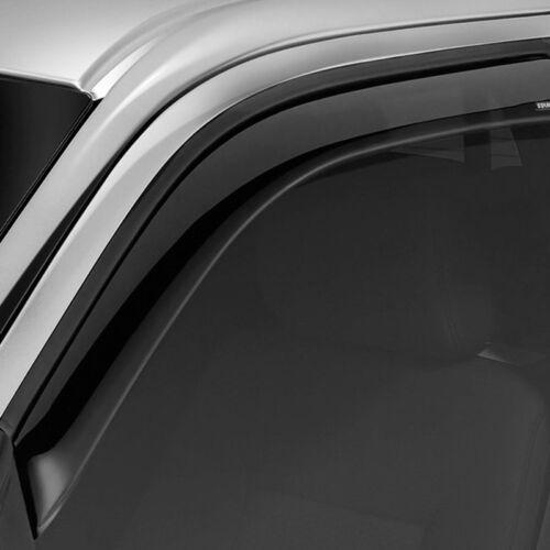 For Ford F-250 Super Duty 17-19 Snap-Inz Smoke Front /& Rear Sidewind Deflectors