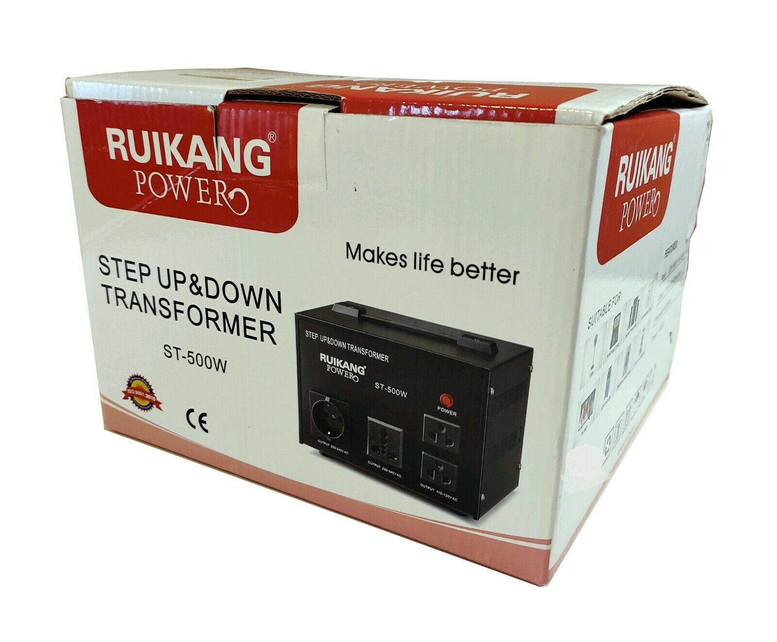 RUIKANG Power Step Up & Down 500W Heavy Duty Voltage Transformer Converter