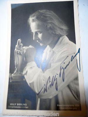 Ansichtskarten 19788-1 Oberammergau Ansichtskarte Autogramm Willy Bierling Passionsspiele 1934