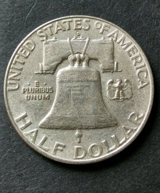 $10 Face Value Nice Uncirculated Roll of 1958-D Franklin Half Dollars