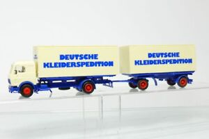 Herpa-MB-Mercedes-Roadtrain-German-Kleiderspedition-Truck-Hz-1-87-H0