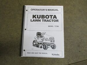 kubota t1760 t 1760 lawn tractor owners maintenance manual ebay rh ebay com Kubota T1760 Owner's Manual Kubota TG1860G