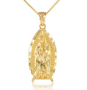 14k gold blessed our lady virgin mary virgen maria de guadalupe la imagen se est cargando 14k oro bendito nuestra senora virgen maria virgen aloadofball Images