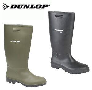 Dunlop Pricemastor Uomo contratto Wellington-Verde o Nero Qualità Welly Stivale  </span>
