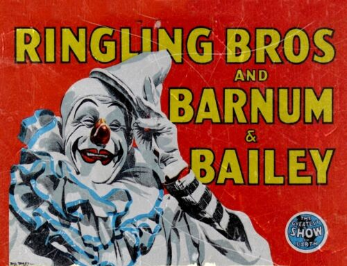 "TIN SIGN /""Ringling Bros /"" Carnival Art Deco Garage Wall Decor"