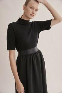 Country-Road-Wool-Silk-Short-Sleeve-Knit-Black